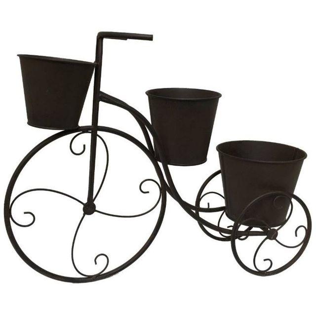 Velo Porte Plante Bicyclette Jardiniere Cache Pot De Jardin En Fer 50 Cm