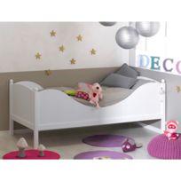 JUNIOR PROVENCE - Lit enfant color blanc 90x190