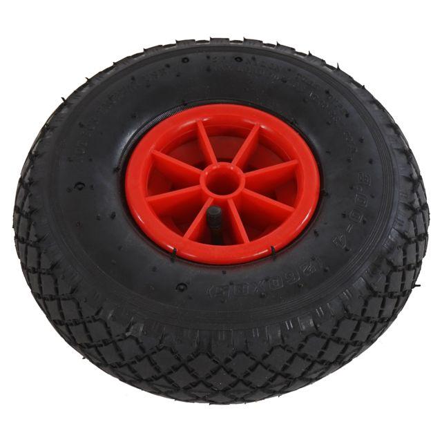 Mendler Roue de rechange pour chariot à bras voiturette charette pneu chambre à air ~ 260x85mm