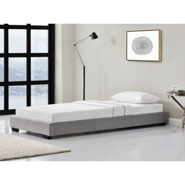 usinestreet ensemble lit maeva avec matelas m moire de forme sommier lattes couleur. Black Bedroom Furniture Sets. Home Design Ideas