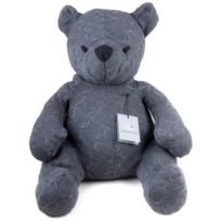 Baby's Only - Ourson TricotÉ 55CM, Collection Cable - Anthracite