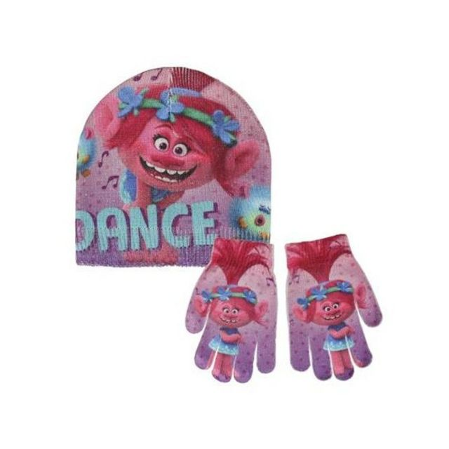 Trolls - Bonnet et gants 249 Multicolore - 1 - pas cher Achat   Vente  Casquettes, bonnets, chapeaux - RueDuCommerce b4f1d18706e