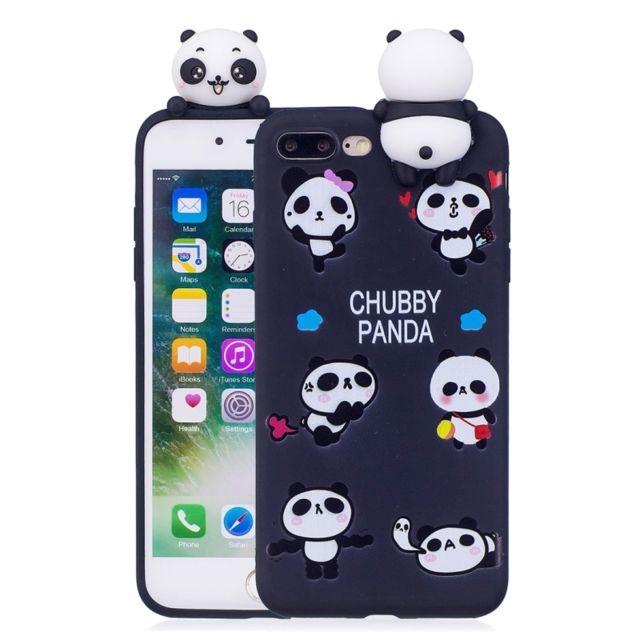 coque iphone 8 plus panda 3d