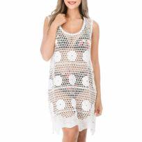 9d823029d5 Robe plage blanche - catalogue 2019 - [RueDuCommerce - Carrefour]