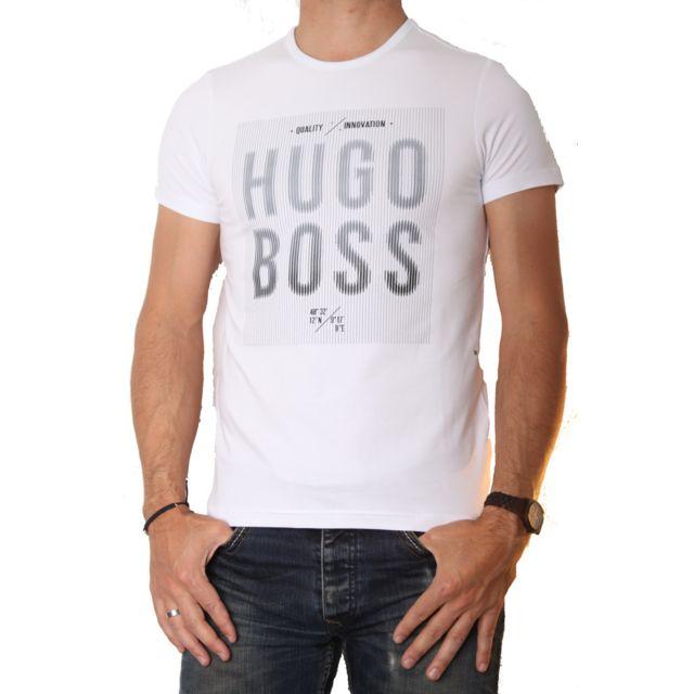 d84e0bdf766 Hugo Boss - Tee Shirt Tee 2 Blanc - pas cher Achat   Vente Tee shirt homme  - RueDuCommerce
