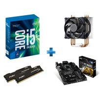 INTEL - Processeur Core i5-7600K 3.80GHz LGA1151 - KABYLAKE + Carte mère MSI Z270 PC MATE Socket 1151 - Chipset Z270 Kabylake + HyperX Fury 16 Go 2 x 8 Go DDR4 2400 MHz Cas 15 + Ventirad MasterAir Pro 3