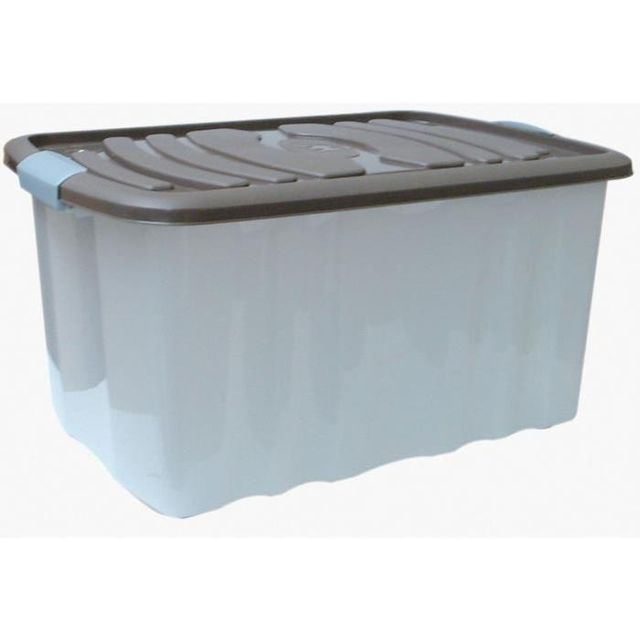 Mhome M Home Roll Box Grand Bac De Rangement 45l Taupe Pas Cher Achat Vente Boite De Rangement Rueducommerce
