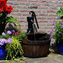 Vimeu-Outillage - Ubbink fontaine de jardin Forme de tonneau bois