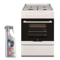 180064473383d Electrolux - Cuisiniere 4 foyers brûleurs gaz blanc 60x60cm four catalyse  Tournebroche Gazinière 51L