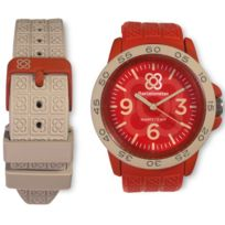 Barcelonetas - Montre homme ou femme Fun Red-gray W02RD