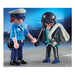 playmobil 9218 city action duopack policier et voleur - Policier Playmobil