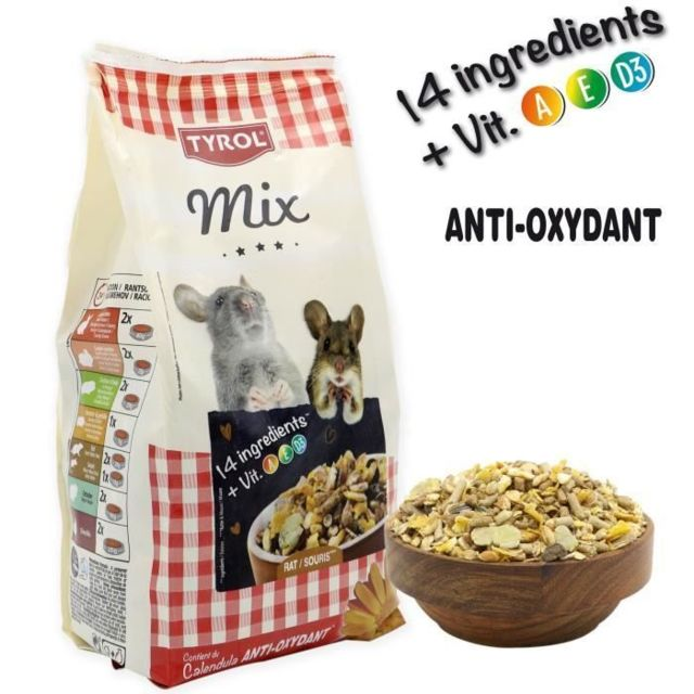 Icaverne GRAINES Menu complet Premium Mix - Pour rat et souris - 750 g