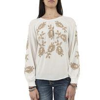 Cream - Tee shirt manches longues 10601694 carla blanc