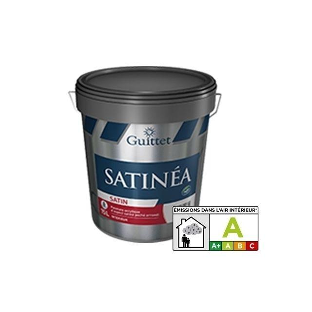guittet satinea blanc 15l peinture acrylique satin poch arrondi pas cher achat vente. Black Bedroom Furniture Sets. Home Design Ideas