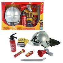 KLEIN - Set pompier avec casque et mégaphone, 7 pièces - 8928