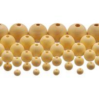 Pw International - perle en bois brut 7d - sachet de 575
