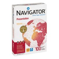 Navigator - Ramette papier satiné Présentation A4 100 gr - 500 feuilles - blanc