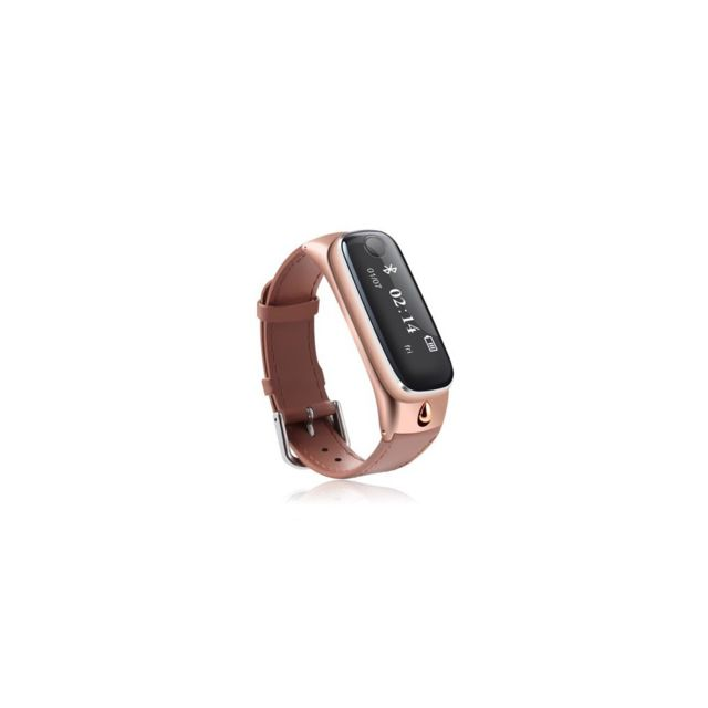 Auto-hightech Bracelet de sport 0,91 pouces Oled avec Bluetooth - Or Rose