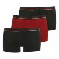 Athena - Lot de 3 shortys Confort Stretch Noir et Rouge