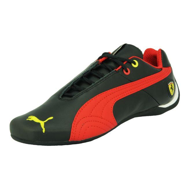 9984c5d2b2a Puma - Future Cat Leather Scuderia Ferrari 10 Chaussures Mode Sneakers  Motorsport Homme Cuir Noir Rouge Jaune - pas cher Achat   Vente Baskets  homme - ...