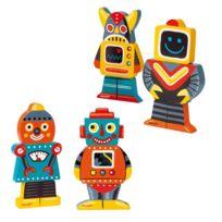 Janod - Magnets en bois Funny : Magnet Robots