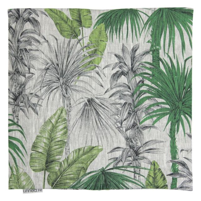 linnea housse de coussin 45x45 cm tatti jungle 100 lin. Black Bedroom Furniture Sets. Home Design Ideas