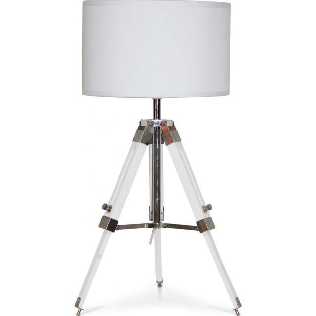 De Abat Blanc Lampe Trépied Jour Bureau Cylindrique soQrdhBtxC