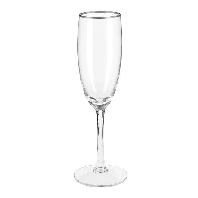 Alinéa - Line Flûte à champagne avec décor liseré argent ...