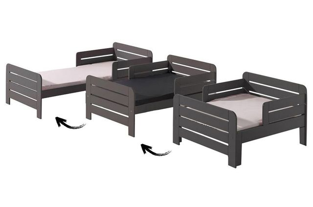 tiroir lit evolutif taupe 90x140 vendu par alfred et compagnie 755988. Black Bedroom Furniture Sets. Home Design Ideas