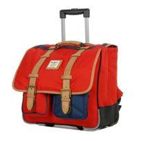 Kickers - Cartable à roulettes Présence Rouge et bleu 41 Cm