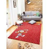 SIGIKID - Tapis RAINBOW RABBIT rouge Tapis Enfants 80 x 150 cm rouge 80 x 150 cm