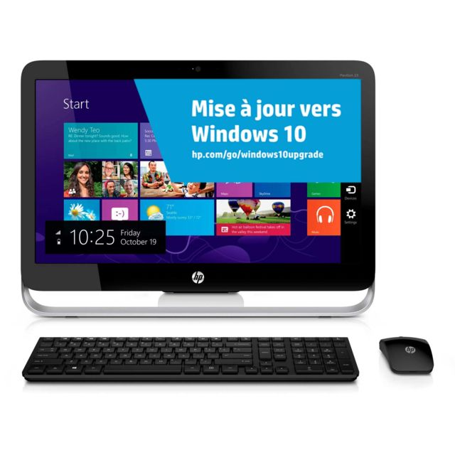 Achat hp pavilion 23 p262 ordinateur de bureau intel core i3 - Ordinateur de bureau intel core i3 ...