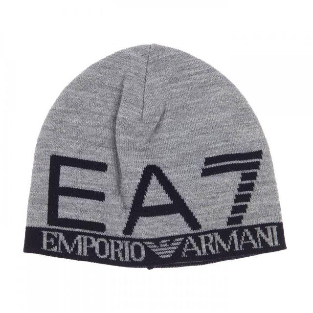 Ea7 Emporio Armani - Bonnet Gris - pas cher Achat   Vente Casquettes ... 950fc11e01a5