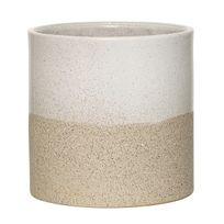 Bloomingville - Cache Pot en Grès 14 cm Blanc/Sable