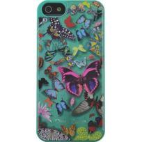 Christianlacroix - Coque Butterfly Parade de Christian Lacroix couleur Emeraude pour iPhone 5/5S
