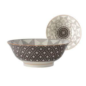 jardin d 39 ulysse saladier en porcelaine motif graphique. Black Bedroom Furniture Sets. Home Design Ideas
