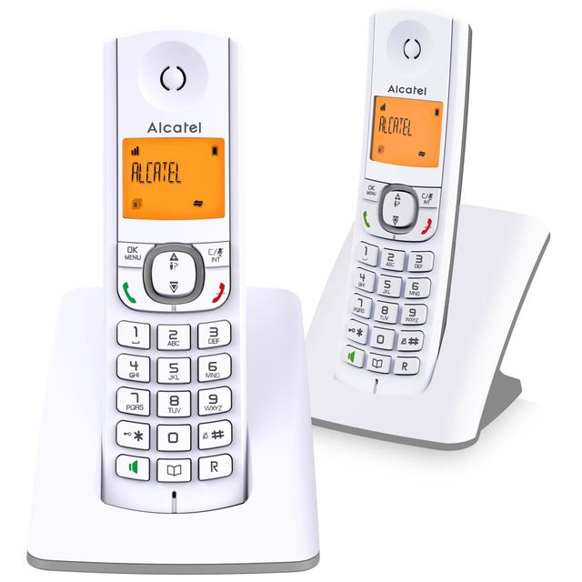 alcatel t l phone sans fil duo dect blanc gris f530duo gris pas cher achat vente. Black Bedroom Furniture Sets. Home Design Ideas