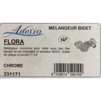 Adesio - 231171 - Mélangeur monotrou bidet - bec fixe