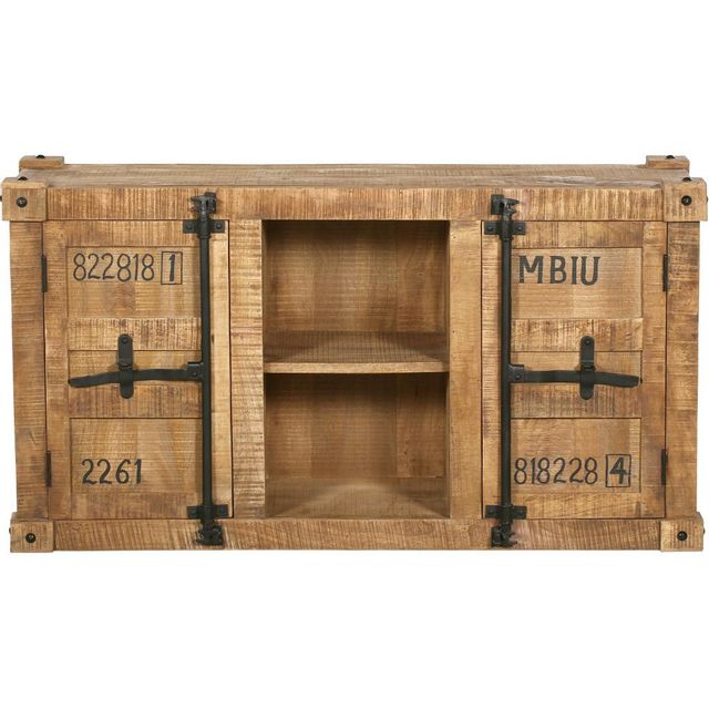privatefloor - buffet industriel en bois - tunk bois naturel - pas