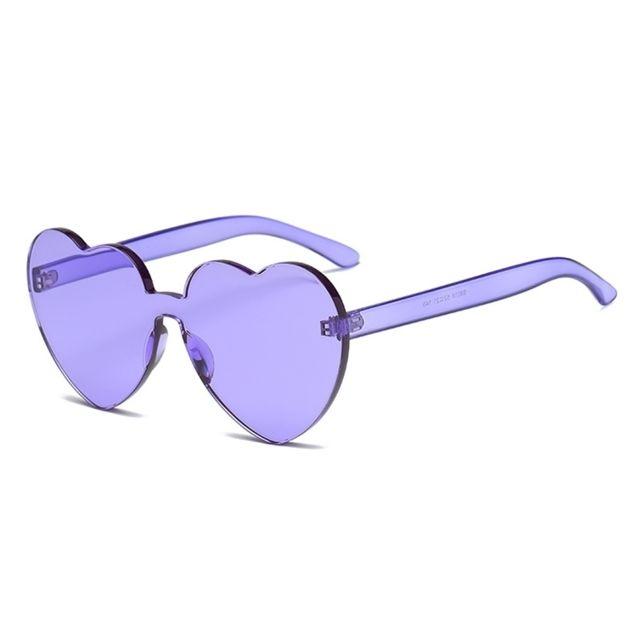 Wewoo - Lunettes de soleil Violet pour les femmes Lunettes de sans monture  Uv400 en forme 402b0d7baf73