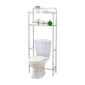 douceur d 39 interieur meuble de toilette chrom gris pas cher achat vente etag res. Black Bedroom Furniture Sets. Home Design Ideas