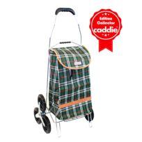 Caddie - Poussette de marché 6 roues 40 L Vert Ecossais