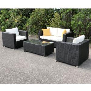 soldes import diffusion salon jardin r sine tress e coloris noir venise pas cher achat. Black Bedroom Furniture Sets. Home Design Ideas