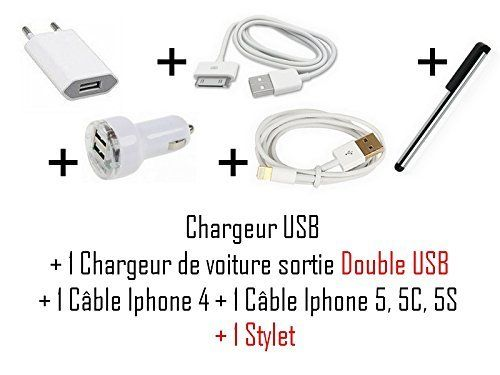 Cabling Pack Chargeur Iphone + 1 Stylet pas cher Achat