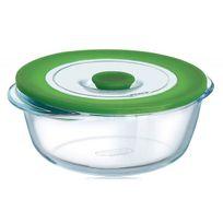 Pyrex - plat rond 15cm verre + couvercle - 206pw00/5045