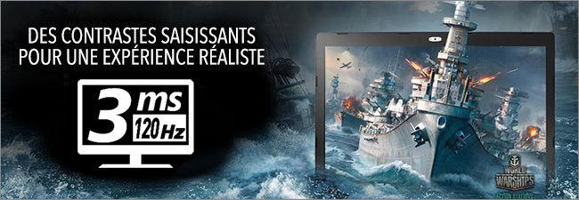 MSI GE73 - Ecran Full HD 120 Hz