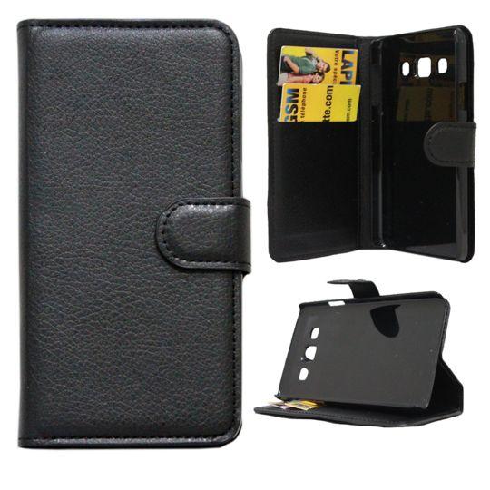 Lapinette - Etui Housse Portefeuille Pour Samsung Galaxy J5 - Noir