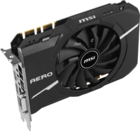 MSI - Carte Graphique GeForce GTX 1050 Ti AERO ITX 4G OC DDR5