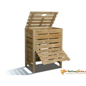 jardipolys bac compost en bois tibeo 400l pas cher. Black Bedroom Furniture Sets. Home Design Ideas
