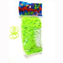 Rainbow Loom - Recharge élastiques : Vert Fluo